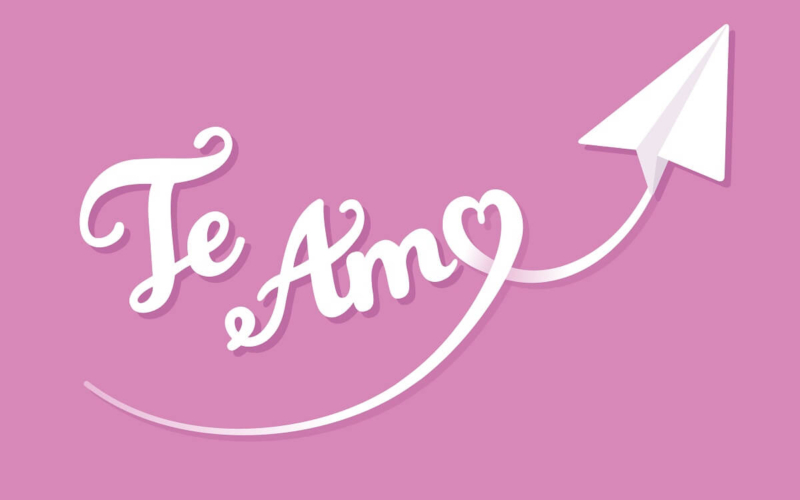 What Does the Spanish phrase 'Te Amo Mi Amor' mean in English?