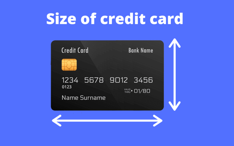 What are the Average Dimensions for a Credit Card?