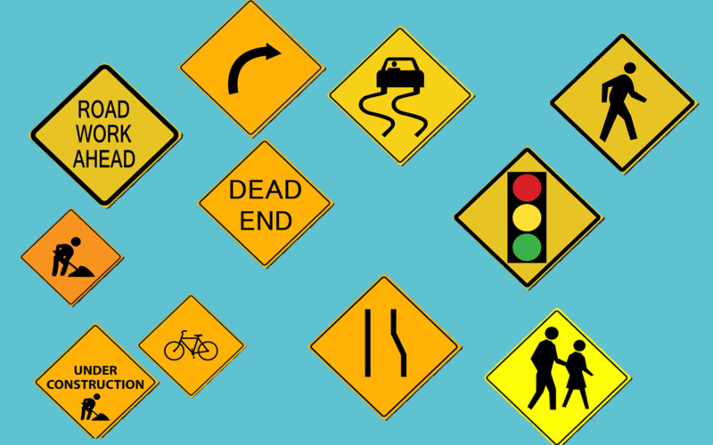 What does the Diamond Shaped Traffic Sign Mean?
