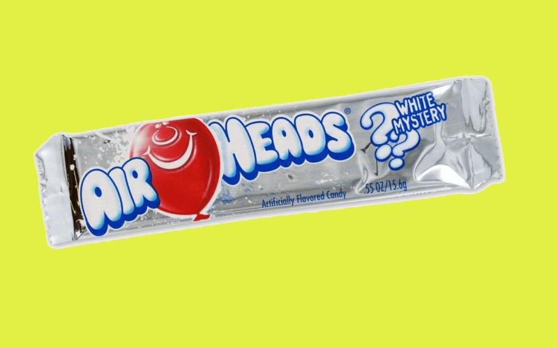 What flavour is the white Airhead?