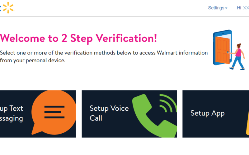 Where do I get a Two-Step Verification for Access to Walmart Wire at Home?
