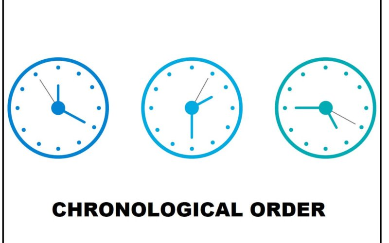 What does chronological order mean? What are some examples?