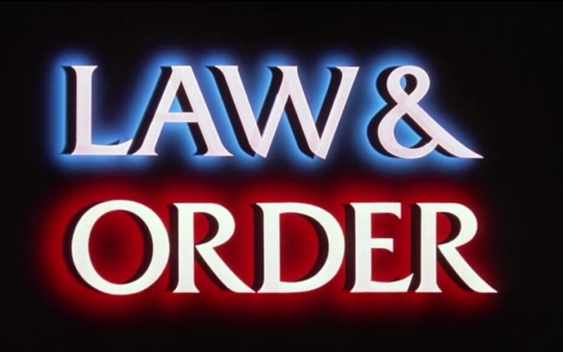 What does it say at the beginning of Show in Law and Order?