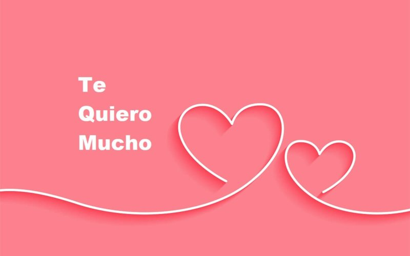 What does the Spanish term 'te quiero mucho' mean in English?